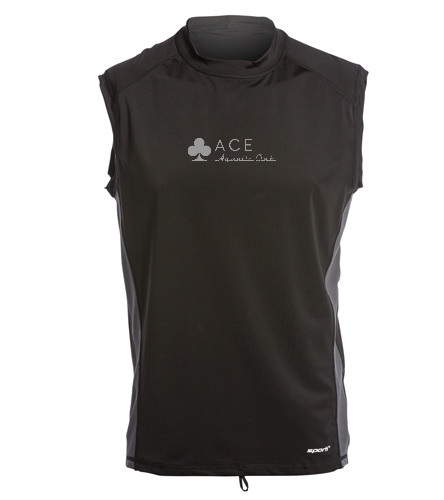 ACE sleeveless rash guard - Sporti Men's Sleeveless UPF 50+ Rash Guard