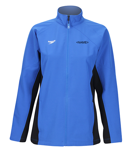 LADIES ACE WARM UP - Speedo Women's Boom Force Warm Up Jacket