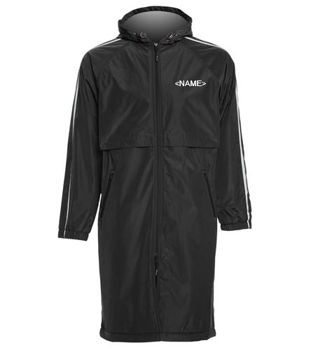 ACE PARKA - Sporti Striped Comfort Fleece-Lined Swim Parka
