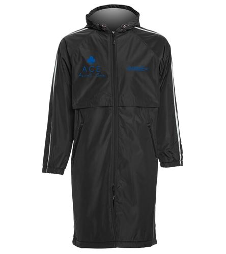 FRONT LOGO PARKA - Sporti Striped Comfort Fleece-Lined Swim Parka