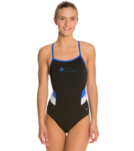 ACE SPLICE THIN STRAP - Sporti Poly Pro Splice Thin Strap One Piece Swimsuit