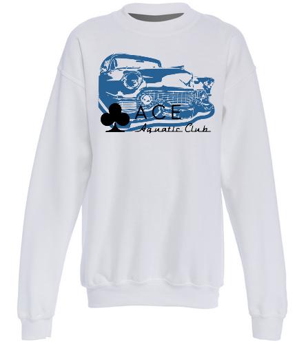 ACE CLASSIC WHITE - SwimOutlet Heavy Blend Youth Crewneck Sweatshirt