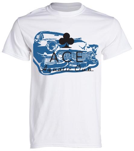 ACE CLASSIC WHITE - SwimOutlet Unisex Cotton Crew Neck T-Shirt