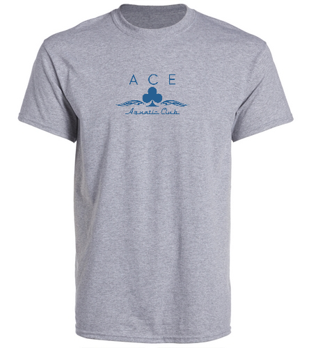 ACE EMBELLISHED GREY - SwimOutlet Unisex Cotton Crew Neck T-Shirt