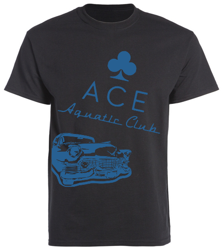ACE CADDY BLACK - SwimOutlet Unisex Cotton Crew Neck T-Shirt