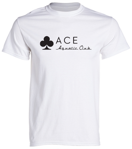 ACE SIMPLE WHITE - SwimOutlet Unisex Cotton Crew Neck T-Shirt