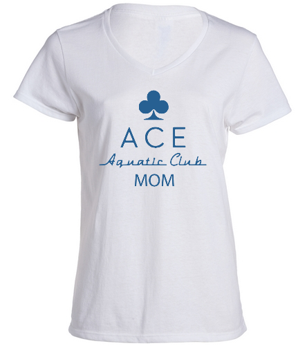 ace mom vneck - SwimOutlet Women's Cotton V-Neck T-Shirt