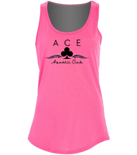 ACE - Pink Tank - SwimOutlet Women's Cotton Tank Top - Brights
