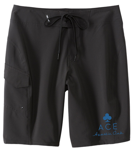 ACE BLACK BOARD SHORT - Sporti Men's 4-Way Stretch Performance Board Short