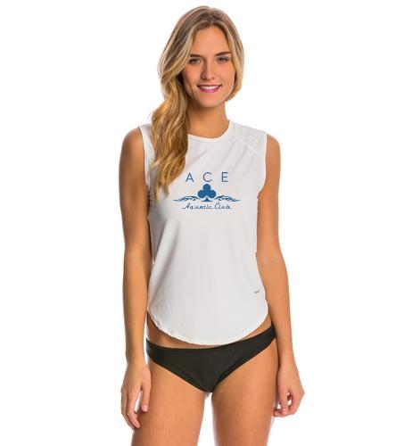 ACE - Sporti Women's Solid Sleeveless UPF 50+ Sport Fit Rash Guard