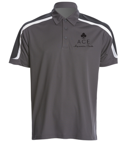 ACE GRAY POLO - SwimOutlet Men's Tech Polo