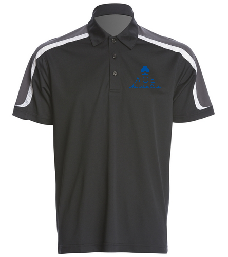 ACE BLACK POLO - SwimOutlet Men's Tech Polo