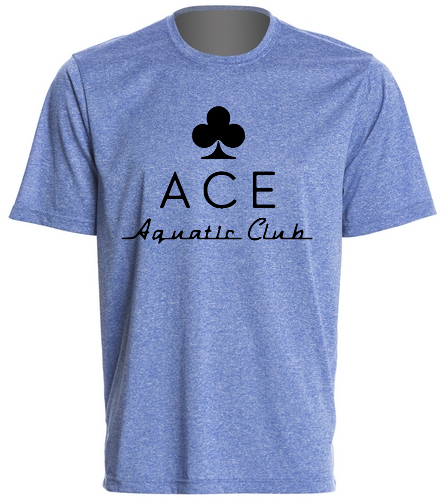 ACE BLUE PERFORMANCE TEE - SwimOutlet Men's Tech Tee