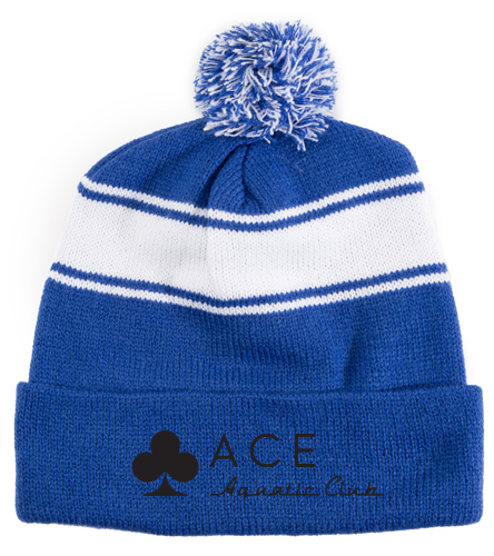 ACE Aquatic Club - SwimOutlet Stripe Pom Pom Beanie