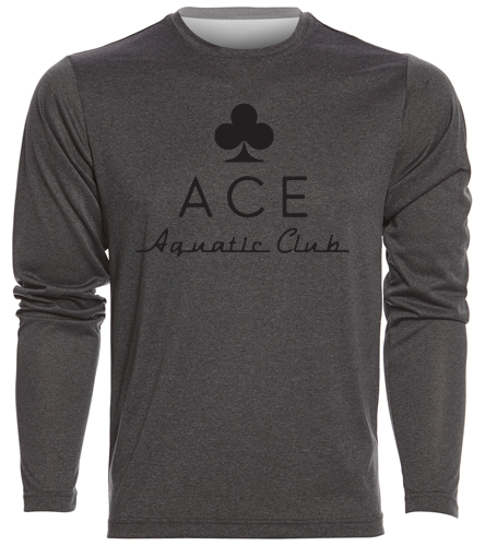 ACE LS PERFORMANCE - SwimOutlet Men's Long Sleeve Tech T Shirt