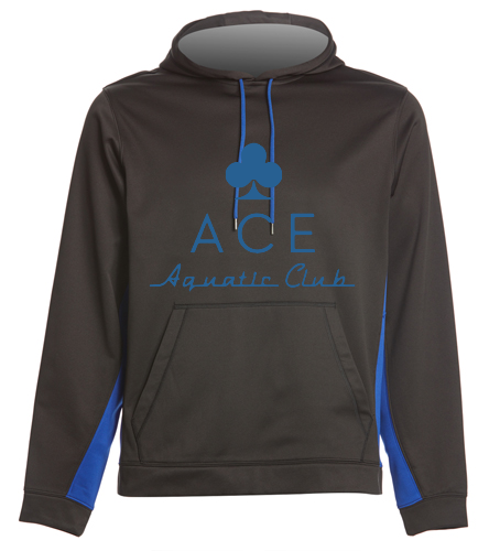 ACE BLACK/ROYAL HOODIE - SwimOutlet Sport-Wick® Fleece Colorblock Hooded Pullover