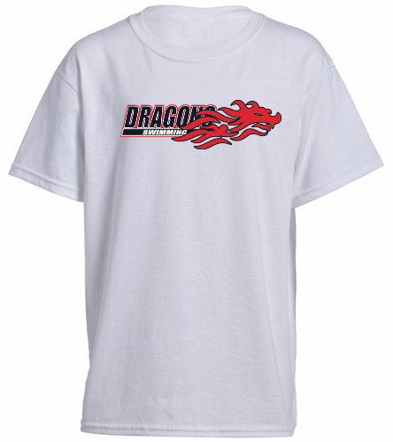 Youth Dragons - White - SwimOutlet Youth Cotton Crew Neck T-Shirt