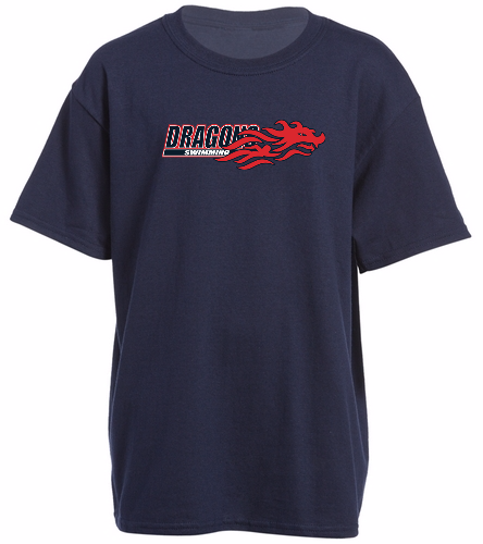 Youth Dragon - Navy - SwimOutlet Youth Cotton Crew Neck T-Shirt