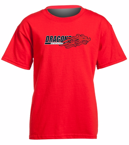Youth Dragons - Red- United We Win - SwimOutlet Youth Cotton Crew Neck T-Shirt