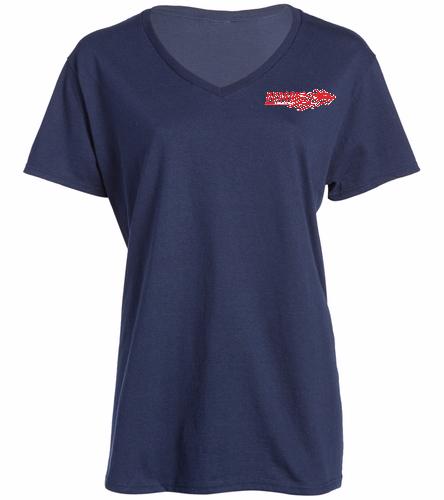 Dragons - Navy - SwimOutlet Women's Cotton V-Neck T-Shirt