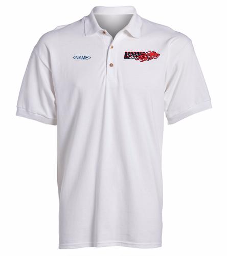 Dragons - White - SwimOutlet Ultra Cotton Adult Men's Pique Sport Shirt