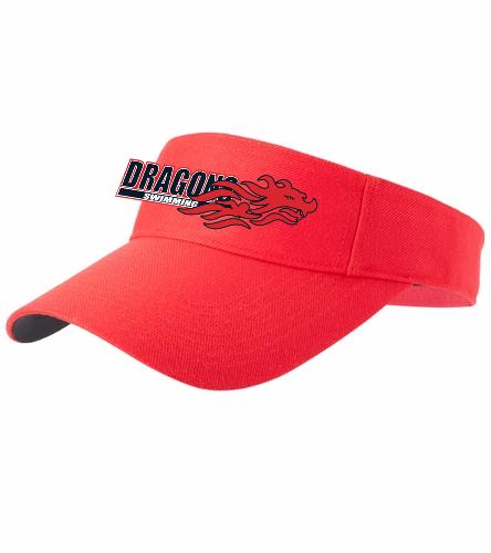 Dragons - Red - SwimOutlet Custom Cotton Twill Visor