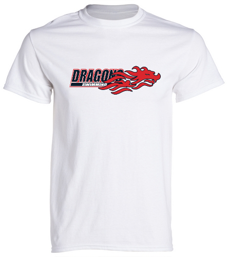 Dragons - White - SwimOutlet Cotton Unisex Short Sleeve T-Shirt