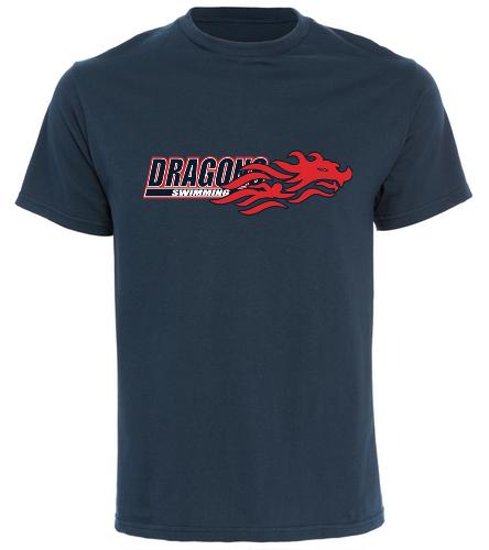 Dragons - Navy - One Team One Dream Shirt - SwimOutlet Cotton Unisex Short Sleeve T-Shirt