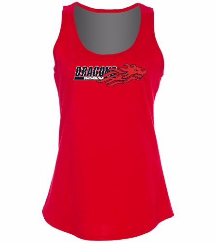 Dragons - Red - SwimOutlet Women's Cotton Racerback Tank Top