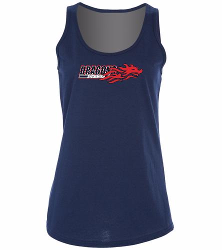 Dragons - Navy - SwimOutlet Women's Cotton Racerback Tank Top