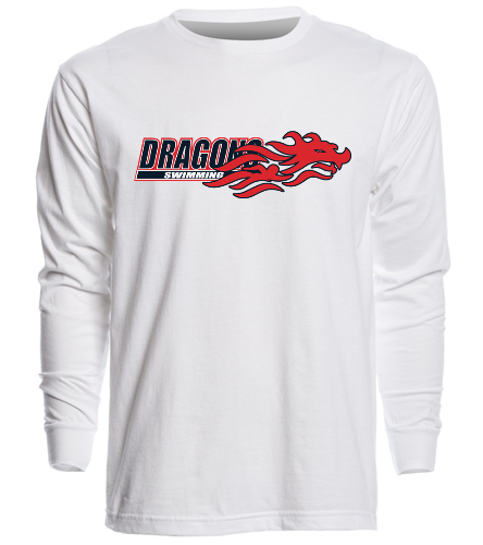 Dragons - White - SwimOutlet Unisex Long Sleeve Crew/Cuff