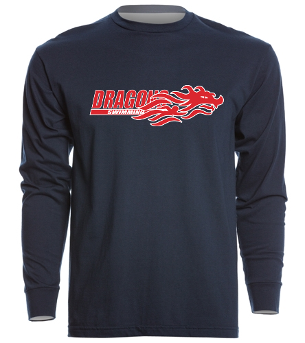 Dragons - Navy - SwimOutlet Unisex Long Sleeve Crew/Cuff