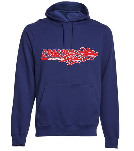 Dragons - Navy - SwimOutlet Adult Fan Favorite Fleece Pullover Hooded Sweatshirt