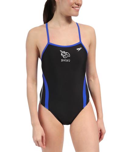 Lycra Ladies Team Suit - Speedo Rapid Spliced Energy Back Swimsuit