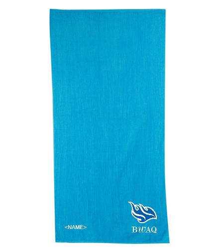 Team Towel - Diplomat Terry Velour Beach Towel 30 x 60
