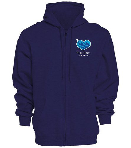 BWAQ Heart Zip Hoody - SwimOutlet Unisex Adult Full Zip Hoodie