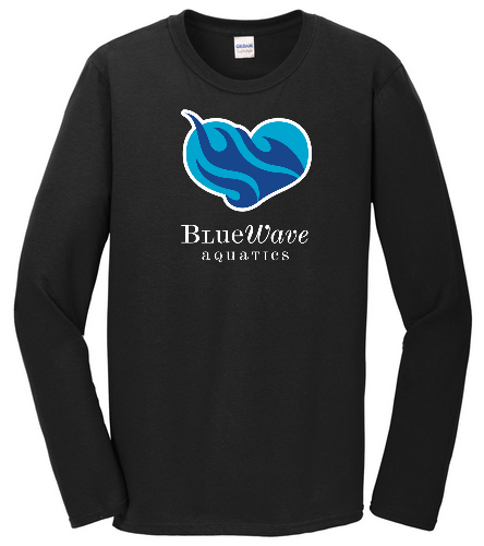 Heart BWAQ Black long sleeve - SwimOutlet Cotton Unisex Long Sleeve T-Shirt