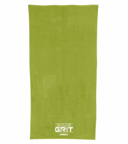 AG Neon Yellow - Royal Comfort Terry Velour Beach Towel 32 X 64