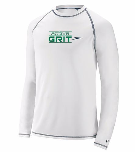 AG White - Speedo Men's Easy Long Sleeve Swim Shirt