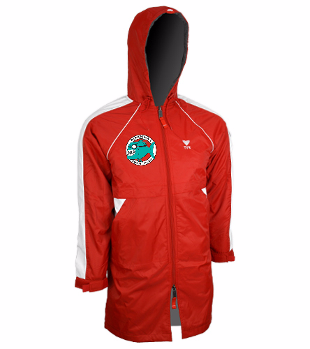 Piranhas Youth Parka (Red) - TYR Alliance Parka Youth