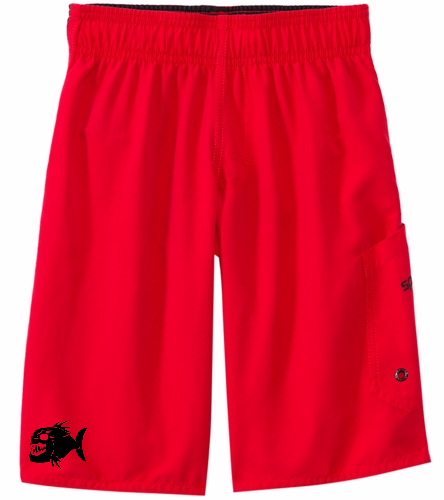 Boy's Red Shorts  - Speedo Boys' Marina Volley (4yrs-7yrs)