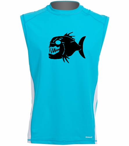 Piranhas Sleeveless Rash Guard - Sporti Men's Sleeveless UPF 50+ Rash Guard