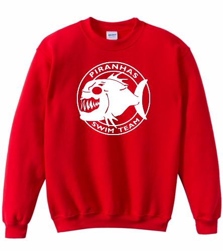 Piranhas Youth Sweathirt (Red) - SwimOutlet Heavy Blend Youth Crewneck Sweatshirt