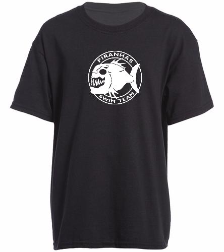 Piranhas Black T-Shirt (Youth) - SwimOutlet Youth Cotton Crew Neck T-Shirt