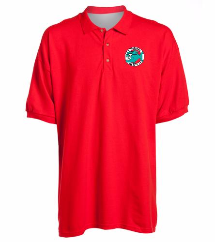 Piranhas Red Sport Shirt - SwimOutlet Ultra Cotton Adult Men's Pique Sport Shirt