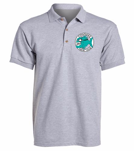 Piranhas Gray Sport Shirt - SwimOutlet Ultra Cotton Adult Men's Pique Sport Shirt