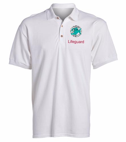 Lifeguard Polo White Men's -  Ultra Cotton Adult Pique Sport Shirt