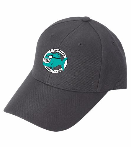 Piranhas Black Hat - SwimOutlet Custom Cotton Twill Cap