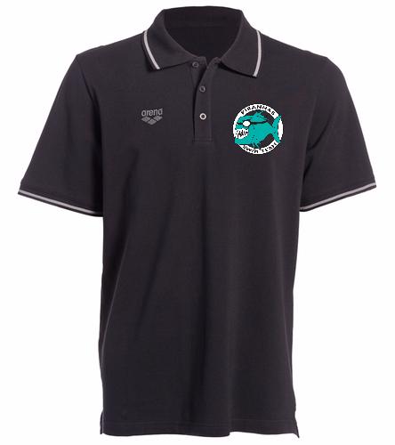 Piranhas Black Chassis Polo Shirt - Arena Chassis Unisex Polo Shirt
