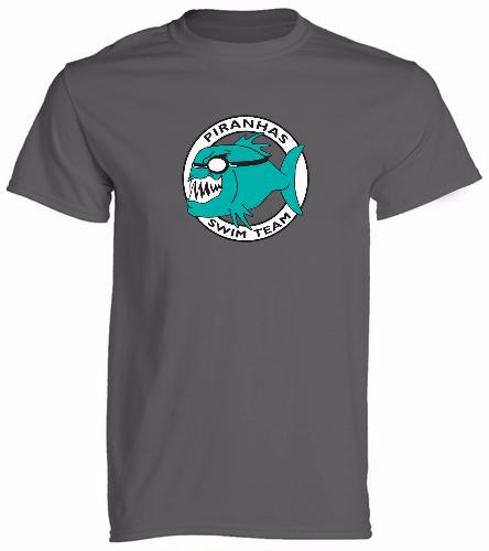 Piranhas Charcoal T-Shirt - SwimOutlet Cotton Unisex Short Sleeve T-Shirt